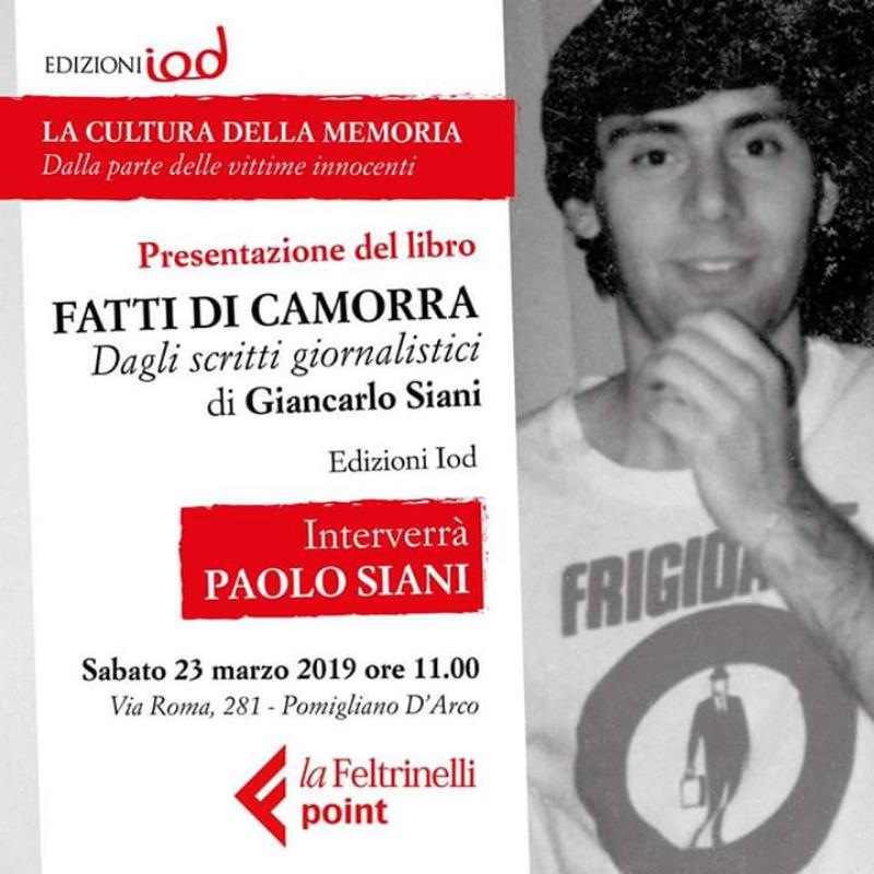 """Docufilm sulla vita di Giancarlo Siani """"Da Grande voglio fare  il giornalista"""" - Convegno 7 giugno 2019"""